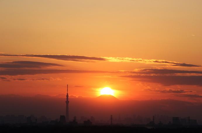 【無料イベント】2/2(木)に鎌ヶ谷市役所の屋上で行われる『ダイヤモンド富士観賞会』について