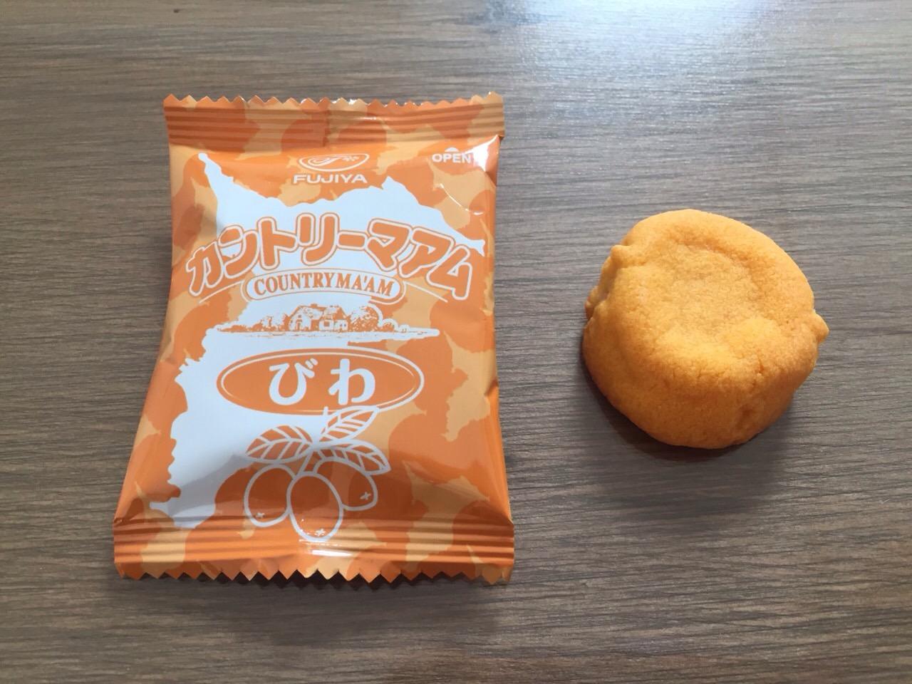 千葉県限定カントリーマームびわ味