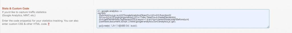 WP touchのgoogle analyticsタグ設置方法